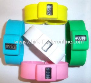 Slap Electronic Silicone Bracelet Watch