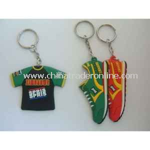 2013 Hot Sale 2014 Sport Souvenir Football Plastic Keychain for Promotion