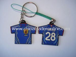 2014 Football World Cup Souvenir T-Shirt Plastic Keychain for Promotion