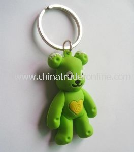 3D Plastic Keychain in Fashionable Design, OEM Orders Accepted, Sized 138 X 9mm