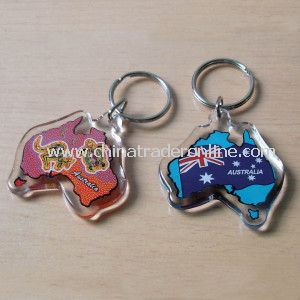 Acrylic Keychain in Australia Map Shape