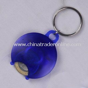 Exquisite Plastic Coin Keychain, Made of Plastic, Ideal for Promotion, OEM Order Are Accepted