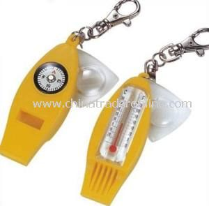 New Design Plastic Whistle Keychain with Logo, OEM Are Accepted, Customized Are Welcomed