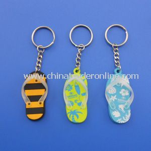 Personalized Plastic Flip Flop Keychains for Promotion