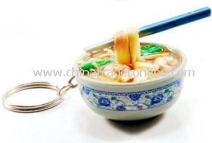 Plastic Food Keychain, Made of Eco-Friendly Material, OEM Orders Accepted