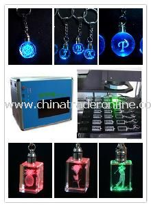 2D/3D Laser Engraving Crystal Keychain