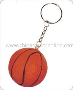 PU Stress Ball Keychain