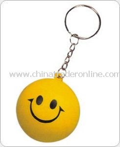 PU Stress Smile Ball Keychains