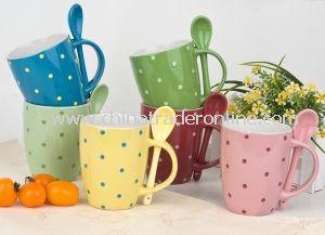 Ceramic Stoneware Coffee Mug, Colorful Cup