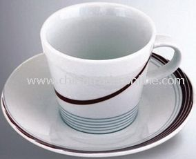 Coffee Cup and Saucer / Ceramic Cup