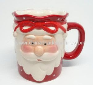 Daily Use Christmas Ceramic Santa Mug, Cup