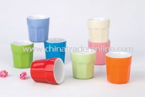 Magnesia Ceramic Solid Color Mug Cup from China