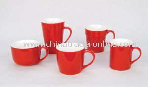 Nice Red Porcelain Mugs Ceramic Cups