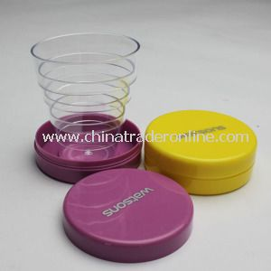 100ml-500ml Promotional Plastic Folding Cup from China