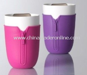 12 Oz Strength, Silicone Sleeve and Lid Ceramic Mugs