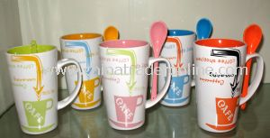 Ceramic Cup with Spoon Set
