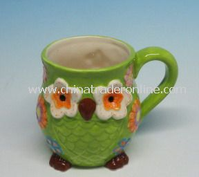 Ceramic Owl Mug, Cup for Ceramic Gifts