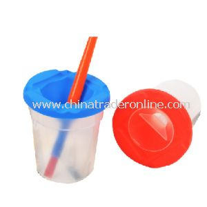 Children High-Quality Plastic Brush Cleaning Cup/Washing Cup from China