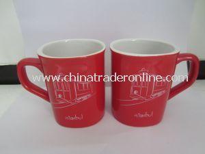 Custom/Specialized Square Porcelain/Ceramic Glazed Promotional Coffee Cup