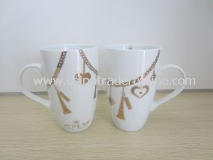 Custom White Porcelain/Ceramic Decal Promotional Coffee Mug Cup
