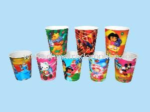 Plastic Lenticular Promotion Cups