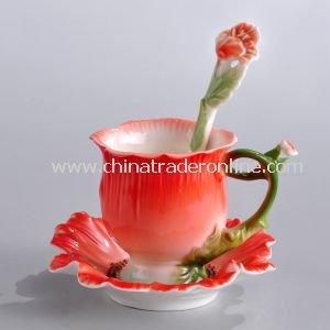 Red Poppy Cup Set Good for Birthday Gift