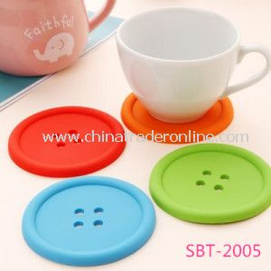 Button Shape Silicone Pad for Cup