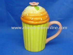 Classic Ceramic Cup Lid Cover with Handle, OEM Orders Accepted