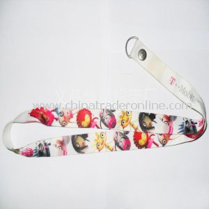 Double Sides Printed Cell Phone Neck Lanyard from China