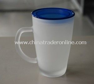 10oz Glass Drinking Cup with PP Lid
