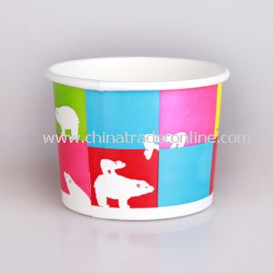 10oz Disposable Paper Ice Cream Cup