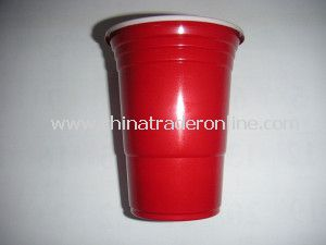 Red Color Plastic Disposable Cup