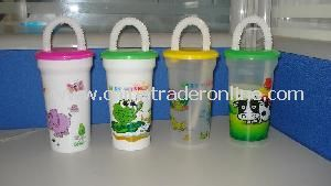 425ml PP Cup with Lid & Straw