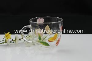 Clear Glass Water Cup with Ear