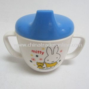 Dinnerware-Melamine Ears Cup with Plastic Lid from China