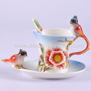Buckeye Bird Franz Porcelain Cup with Gift