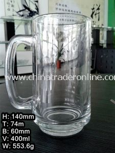 400ml Glass Cup with Handle/Big Beer Cup