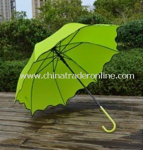 Automatic Custom Pongee Patio Lady Straight Umbrella