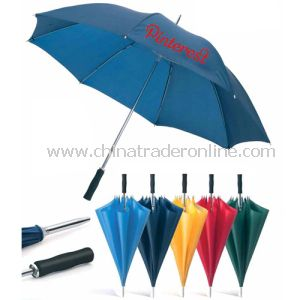 Double Metal Fluted Ribs Blue Color Advertisement Umbrella