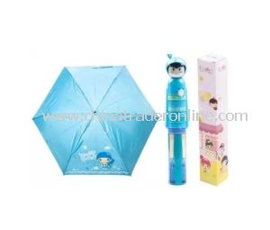 Hand Open Custom Folding Bottle Parasol Gift Umbrella