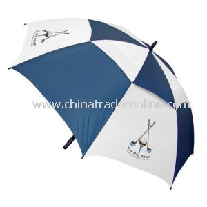 Manual Open Windproof Double Layers Vented Promotional Umbrella from China
