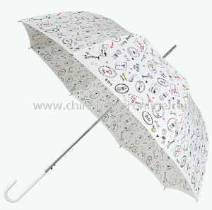 Fashion Automatic Pongee Lady Outdoor Straight Sun Umbrella