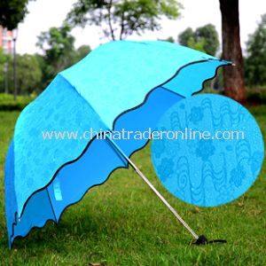 Flower Edge Beautiful Gift Umbrella Lady Sun Rain Umbrella