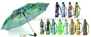 Sun Umbrella, Creative Heat Transfer Printing Straight Umbrellas