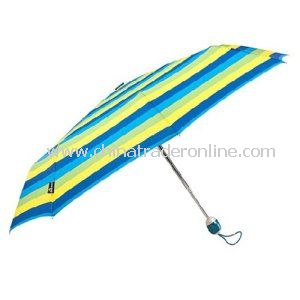 Wholesale Automatic Stripe Printing Folding Sun Umbrella
