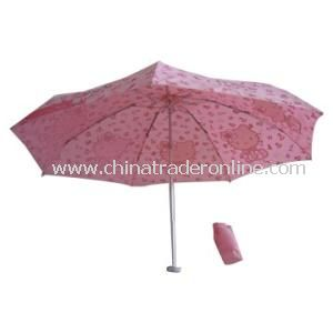 3 Folding Umbrella with Aluminum Frame