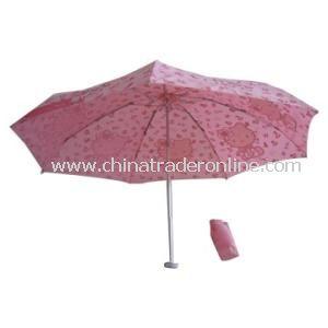 3 Folding Umbrella with Aluminum Frame from China