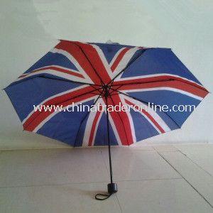 3 Folding Umbrella with Union Jack