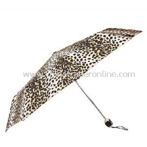 Auto Open/Close Lady Leopard Advertising 3 Folding Umbrella