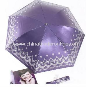 Hot Sale UV Protection Umbrella, Three Folding Sun-Rain Umbrella